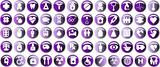 Medical button, shiny icons & warning-signs set, web button, vio