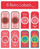 set of decorative vintage labels
