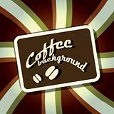 Coffee stripe background