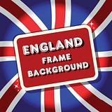 England British flag background frame