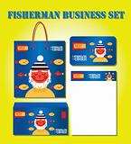 fisherman business set: card bag pack letter