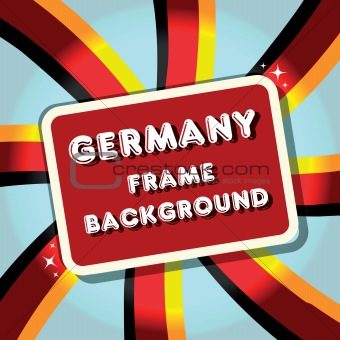 Germany Background banner flag border