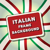 italy frame flag vector illustration background