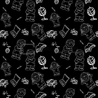 Back to School seamless Background pattern wallpaper blackboard,