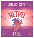 Vintage Label Grape Variant of design of a label for wine
