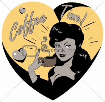 Coffee Lover vector poster