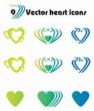 Vector heart icons. Simply change