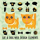 Big Pets web site icons set and background