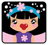 Vector Girl Label from big kids avatar collection