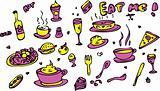 Food Icon Set Doodle sketch Eat me!