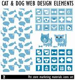 Designs of Pets and Other Related Items - Vector. Pet Store mark
