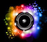 Futuristic Music Disco Background