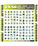 100 green vector environmental icons and design-elements