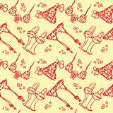 Seamless Lingerie fashion background Female underwear pattern