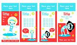 Two Sided Rack Cards or web banners. Kids
