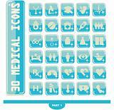 30 shiny Medical icons, button Medicine & Heath Care