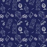 Back to School seamless Background pattern wallpaper blackboard,