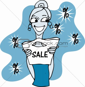 Beautiful shopping woman shopping girl vector illustration