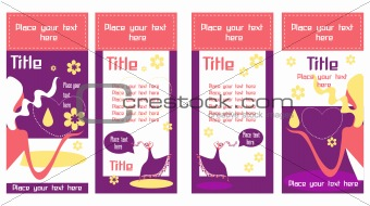Business cards with beautiful woman