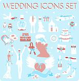 Wedding Bridal Icon set Design elements