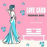 Wedding card, love nature, congratulations logo. Vector weddings