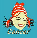 Woman Face Beauty Cancer Horoscope