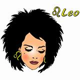 Woman Face Beauty Leo Horoscope seria