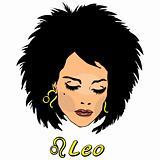 Woman Face Beauty Leo Horoscope seria