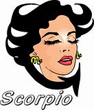 Woman Face Beauty Scorpio Horoscope zodiac seria