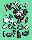 Vector doodly style icon set Medicine Part 1