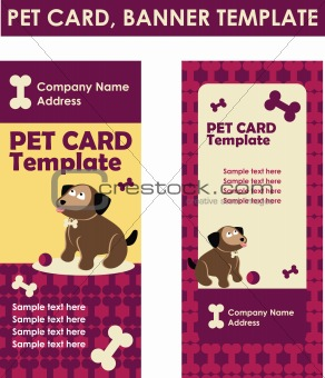 Bone and Paw card web banner template