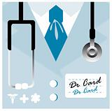 Vector card Close up of a doctors lab coat uniform