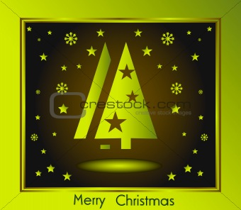 Green and chocolate Christmas Background Card