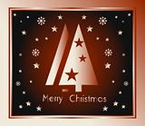Red and chocolate Christmas Background Card
