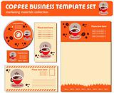 Coffee Business Template Set Marketing Materials