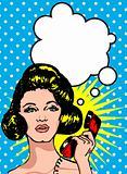 Comics style girl woman