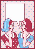 Comics style girls woman talk