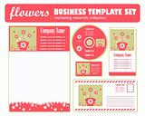 Vector spring business stationery set