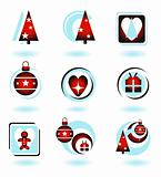 Shiny Christmas Icons Set