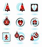Shiny Christmas Icons Set