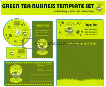 Green Tea Template Set Marketing Materials