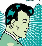 Retro Guy Illustration of a man in a pop art comic style