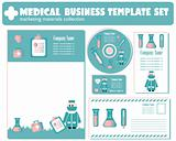 Medical Business Template set vector