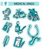 Medical icons button web clipart