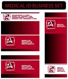 Medical ID business set with Dentist icons