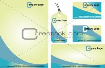 Corporate Identity Template Vector. Vanilla blue