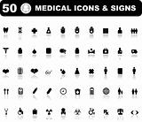 Medical icons set of 50 medical icons for Web Applications. Web 