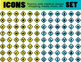 Vector Icons for Web Applications. Web, medical, media, shopping