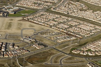 Aerial images of development