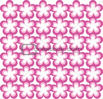 Abstract Flower background, retro design wallpaper